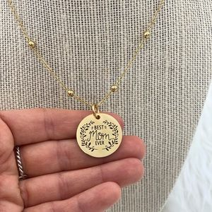 Best mom ever necklace and pendant stainless steel